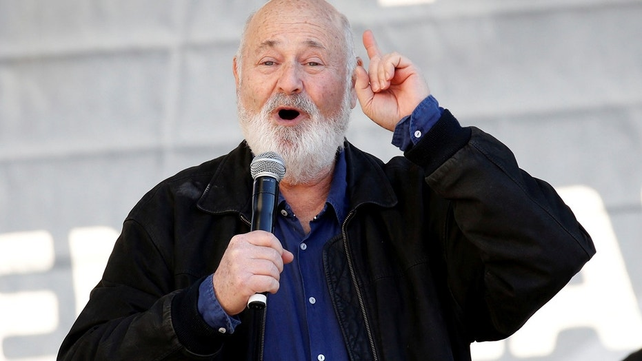 Director Rob Reiner speaks at the second annual Women's March in Los Angeles, California, U.S. January 20, 2018.