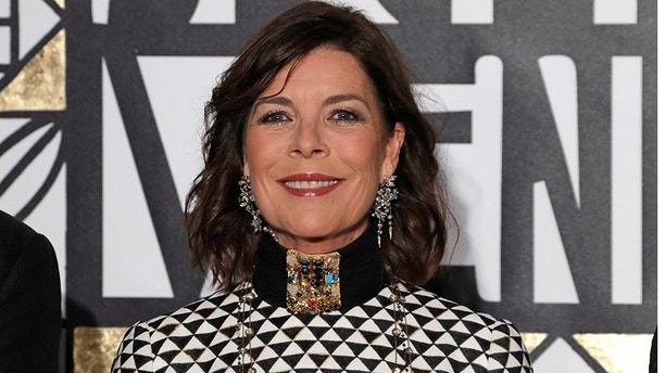 Princess Caroline of Hanover arrives at the Monte Carlo Sporting for the Bal de la Rose in Monte Carlo March 18, 2017.  REUTERS/Eric Gaillard - RC173A2C0FC0