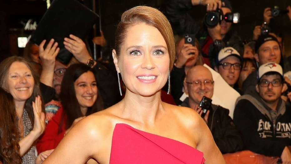 Jenna Fischer is donating money she received for her speech in the name of the protesters who interrupted her speech Tuesday night at DePauw University.