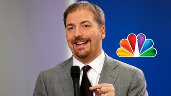 """FILE - In this Oct. 29, 2010, file photo, Chuck Todd, of NBC News, speaks at the White House in Washington. Todd has some momentum at his one-year anniversary at """"Meet the Press,"""" reimagining a show that began in 1947 while preparing for a new weekday role at MSNBC. (AP Photo/Charles Dharapak, File)"""