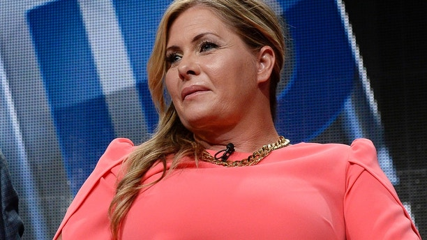 """Nicole Eggert of the mini-series """"'Heartbreakers'' take part in a panel discussion during the Discovery Communications portion of the 2014 Television Critics Association Cable Summer Press Tour in Beverly Hills, California July 9, 2014."""