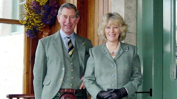 A handout photograph released by Clarence House on February 10, 2005, shows Prince Charles and Camilla Parker-Bowles at Birkhall in Scotland in January 2005 as the two were leaving for a Sunday church service. Prince Charles revealed on Thursday that he would marry his longtime lover Camilla Parker Bowles at Windsor Castle on April 8, 2005. - ??? USE ONLY  - PBEAHUOCUAR