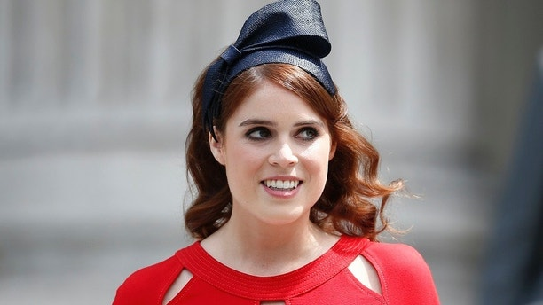 Britain's Princess Eugenie leaves after a service of thanksgiving for Queen Elizabeth's 90th birthday at St Paul's Cathedral in London, Britain, June 10, 2016.    REUTERS/Peter Nicholls  - LR1EC6A0YNIQ0