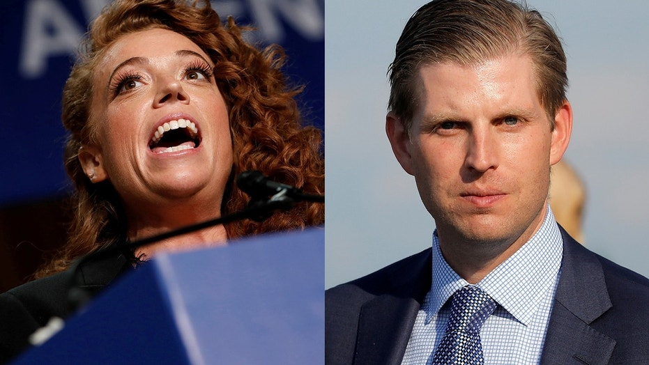 """Comedian Michelle Wolf (left) reportedly called Eric Trump """"an abortion"""" in a since-deleted tweet."""