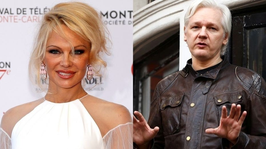 Pamela Anderson has visited Assange several times at the Ecuadorian embassy in London.