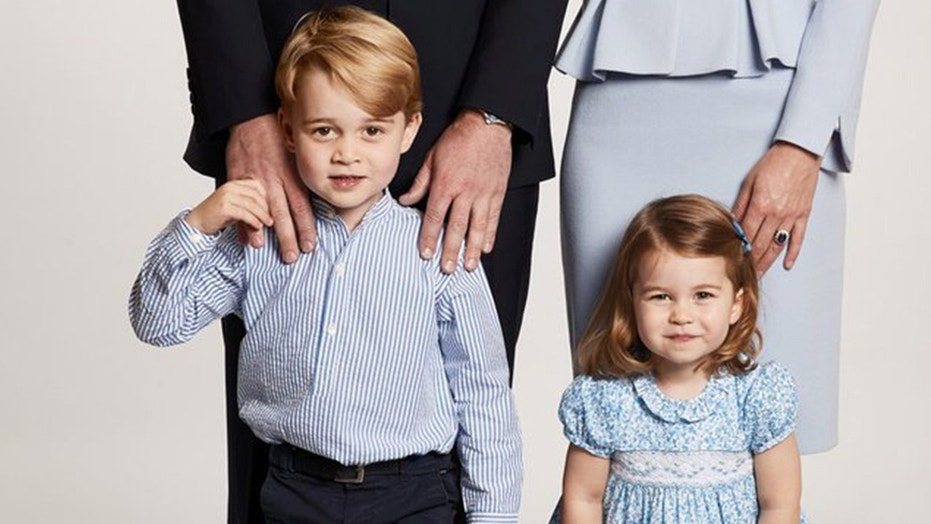 Prince George and Princess Charlotte appear on the royal family's holiday greeting card.