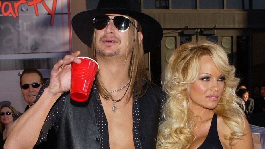 Pamela Anderson opens up about on-and-off relationship with ex Kid Rock and his political views.