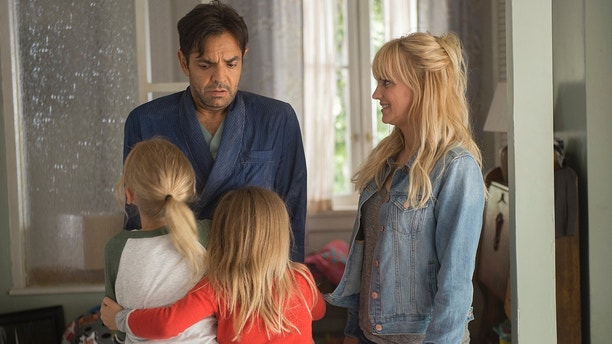 """This image released by Metro Goldwyn Mayer Pictures/Pantelion Films shows Anna Faris, right, and Eugenio Derbez in a scene from """"Overboard."""""""