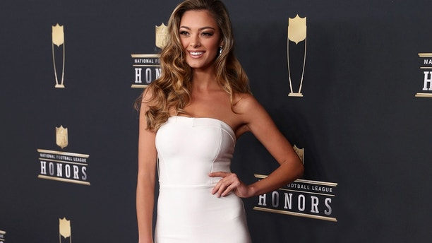 Miss Universe Demi-Leigh Nel-Peters during red carpet arrivals for the NFL Honors show at Cyrus Northrop Memorial Auditorium at the University of Minnesota.