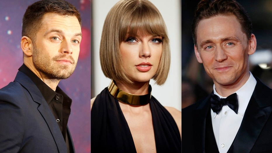 Actor Sebastian Stan (left) said he had 'extreme concern' for friend and co-star, Tom Hiddleston, when he dated Taylor Swift.