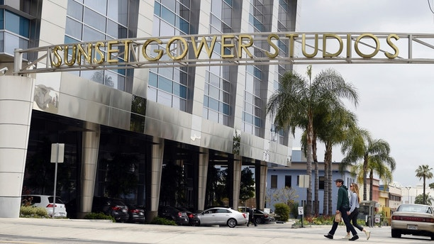"This April 30, 2018 photo shows the entrance to Sunset Gower Studios, where Thomas Markle, father of Meghan Markle worked as the director of photography for the TV series ""Married...with Children,"" in Los Angeles. Meghan Markle is set to marry Prince Harry on May 19. (AP Photo/Chris Pizzello)"