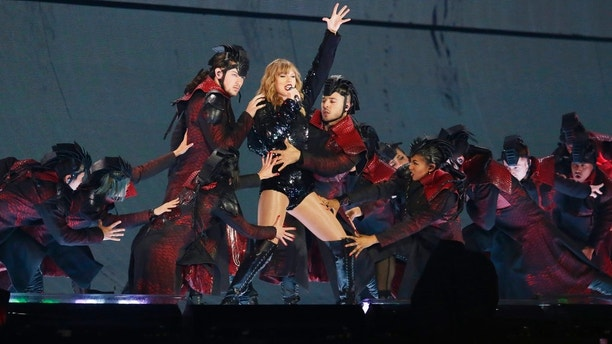 Taylor Swift performs during the reputation Stadium Tour opener at University of Phoenix Stadium on Tuesday, May 8, 2018, in Glendale, Ariz. (Photo by Rick Scuteri/Invision/AP)