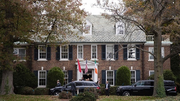 """FILE - In this Oct. 25, 2016, file photo, Prince Albert II of Monaco waves after touring a house he recently purchased in Philadelphia.  It's the home where his mother, Oscar-winning actress Grace Kelly, grew up. Toby Boshak, executive director of the Princess Grace Foundation-USA, tells NBC's """"Today"""" Friday, May 11, 2018,  that the six-bedroom, 2.5-story Colonial home will be used by Prince Albert and his family whenever they visit Philadelphia.    (AP Photo/Matt Rourke, File)"""