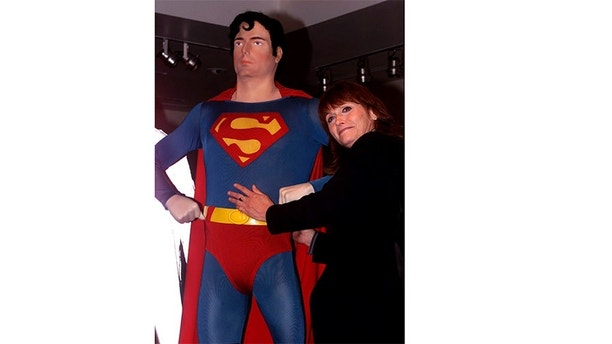 "The Movie"" at the Warner Bros. studio museum in Burbank May 1, 2001. Kidder portrayed Lois Lane in the film which also starred Christopher Reeve as Superman. Warner Bros. brought the cast together for the release of the film on DVD.