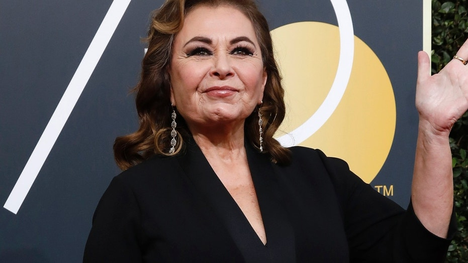 Roseanne Barr at the Golden Globes in Beverly Hills, Calif., in January.