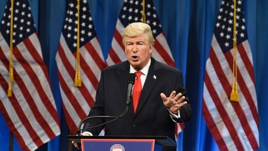 "Alec Baldwin portrays President Donald Trump in a ""Saturday Night Live"" sketch, Jan. 14, 2017."