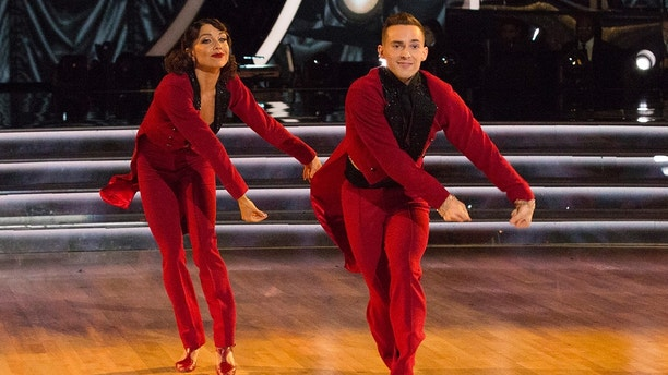 """DANCING WITH THE STARS: ATHLETES - """"Episode 2604"""" - After three weeks of stunning competitive dancing, the final three couples advance to the finals of """"Dancing with the Stars: Athletes,"""" live on MONDAY, MAY 21 (8:00-9:00 p.m. EDT), on The ABC Television Network. (ABC/Kelsey McNeal)JENNA JOHNSON, ADAM RIPPON"""
