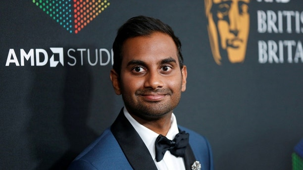 Comedian Aziz Ansari, Charlie Chaplin Britannia Award for Excellence In Comedy presented by Jaguar Land Rover honoree, poses at the AMD British Academy Britannia Awards in Beverly Hills, California, U.S. October 27, 2017 . REUTERS/Danny Moloshok - RC12B99BE690
