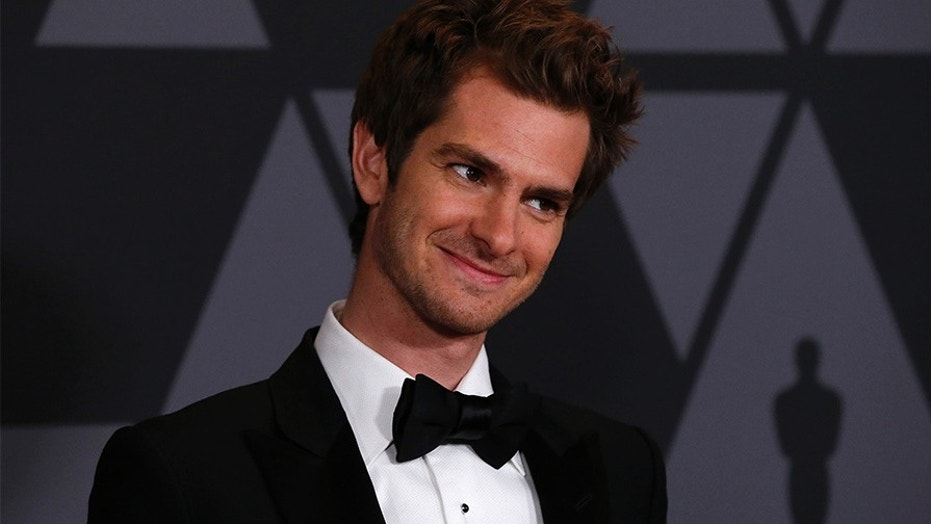 Actor Andrew Garfield got candid about his first kiss with Stephen Colbert.