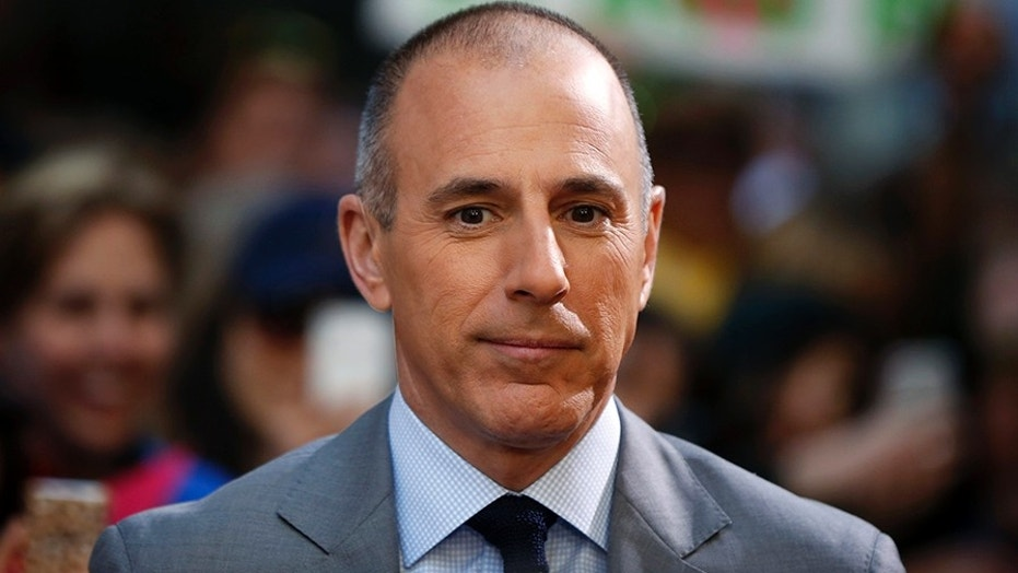 """Matt Lauer pauses during a break in NBC's """"Today"""" show at Rockefeller Center in New York City, May 3, 2013."""