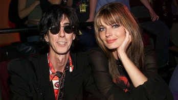 "Ric Ocasek and Paulina Porizkova at the MTV 20th Anniversary party, ""MTV20: Live and Almost Legal"" at Hammerstein Ballroom in New York City on 8/1/01. Photo by Evan Agostini/ImageDirect"