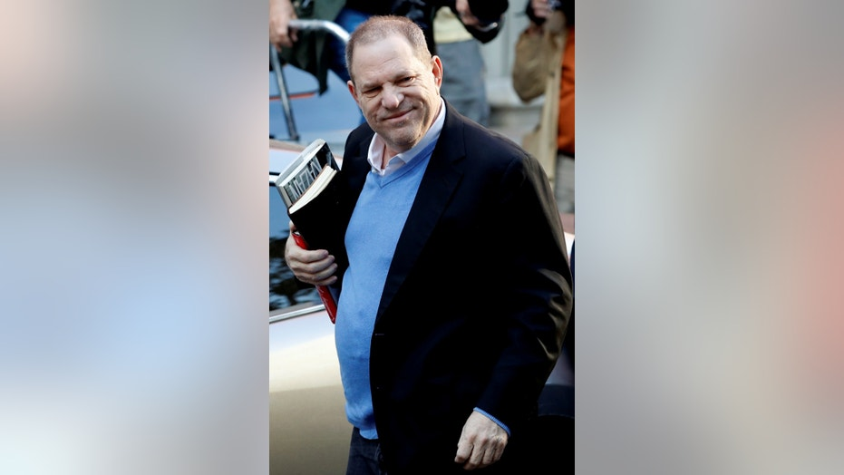 Film producer Harvey Weinstein arrives at the 1st Precinct in Manhattan in New York, U.S., May 25, 2018.