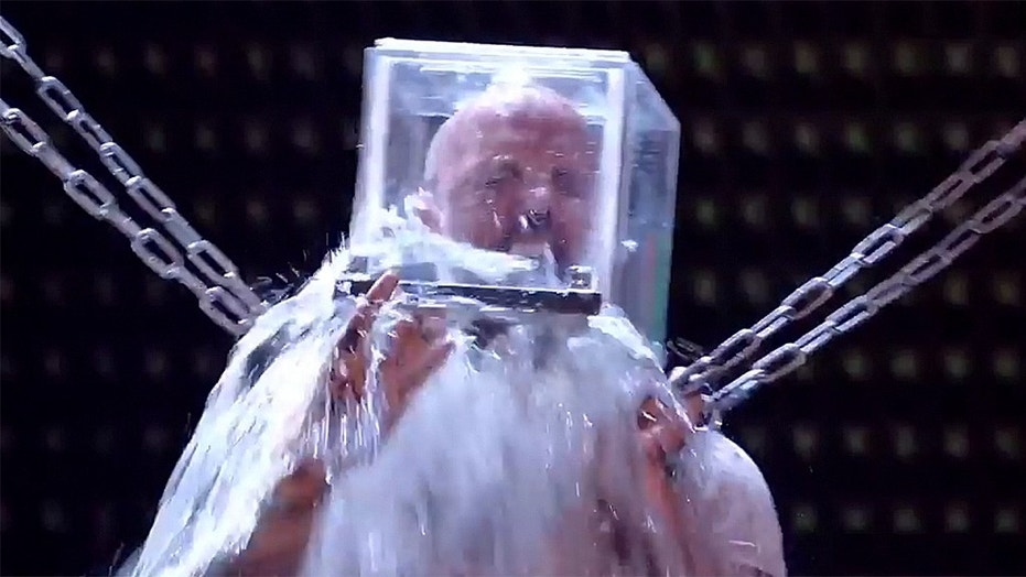 """Matt Johnson struggled to escape from a box filled with water in a live episode of """"Britain's Got Talent."""""""