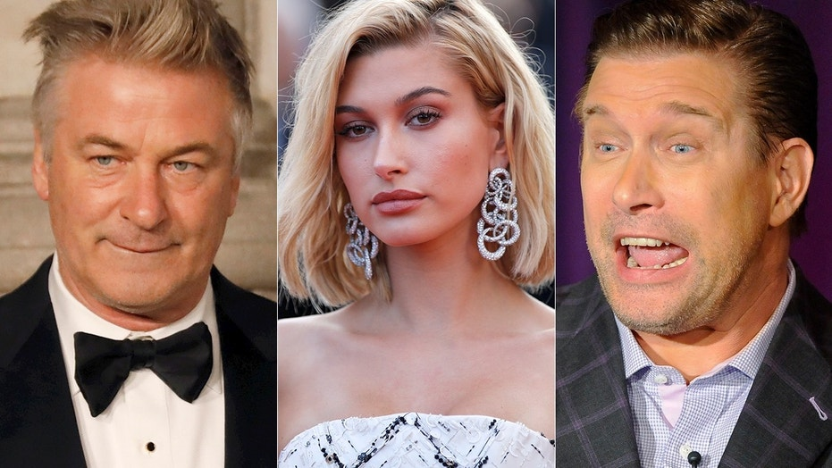Hailey Baldwin (center) said the 2016 presidential election tore her father Stephen (right) and uncle Alec (left) apart.