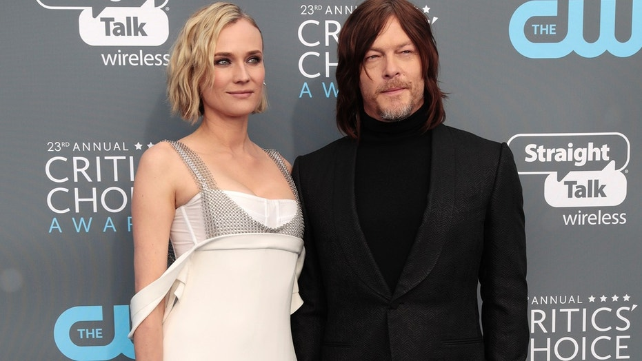 Diane Kruger, left and boyfriend Norman Reedus at the 23rd Critic's Choice Awards