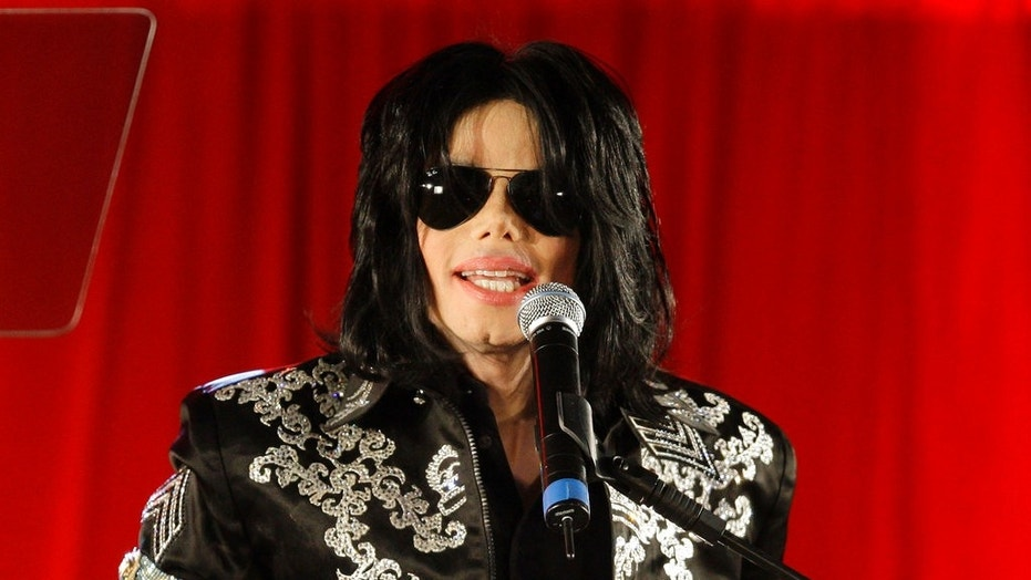 In this March 5, 2009 photo, Michael Jackson announces a series of upcoming concerts in London.