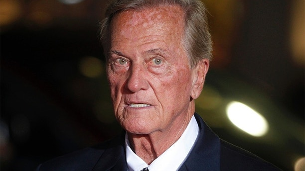 """Singer Pat Boone arrives as a guest for a screening in honor of the """"West Side Story: 50th Anniversary Edition"""" Blu-ray release in Hollywood, California November 15, 2011. The film won 10 Academy Awards in 1962, including best supporting actor and actress awards for George Chakiris and Rita Moreno and for best picture. REUTERS/Fred Prouser (UNITED STATES - Tags: ENTERTAINMENT HEADSHOT ANNIVERSARY) - GM1E7BG169H01"""