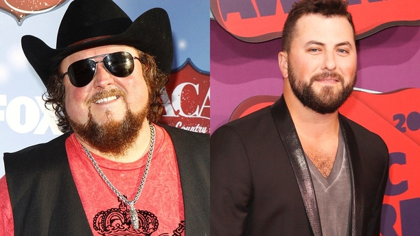 Country singers Colt Ford, left, and Tyler Farr, right.
