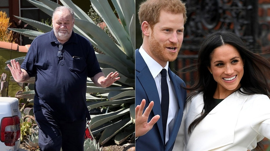 Meghan Markle's father Thomas (left) told TMZ he didn't ask his famous daughter for money before her marriage to Britain's Prince Harry.