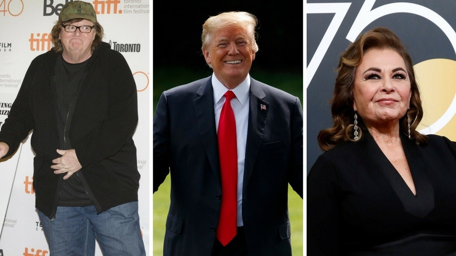 Director Michael Moore said he has been working on a project that involved President Trump and Roseanne Barr.