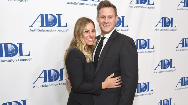 BEVERLY HILLS, CA - APRIL 17:  Tracey Kurland (L) and Trevor Engelson attend the Anti-Defamation League Entertainment Industry Dinner at The Beverly Hilton Hotel on April 17, 2018 in Beverly Hills, California.  (Photo by Michael Kovac/Getty Images)
