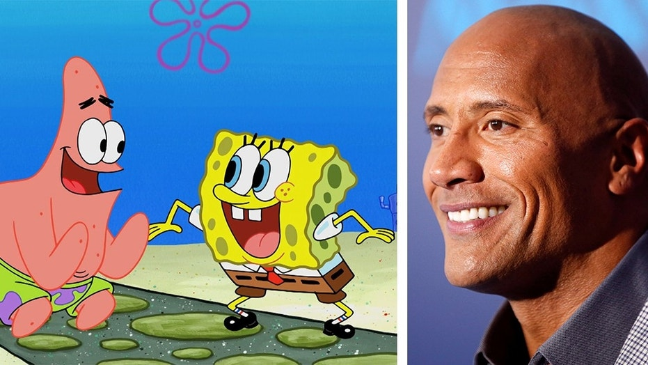 """The Twitter account for Nickelodeon character SpongeBob SquarePants tweeted at Dwayne """"The Rock"""" Johnson last week, asking about the origins of his moniker."""