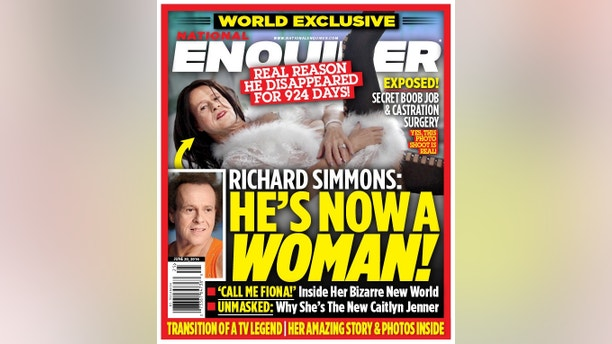 richard simmons enquirer cover