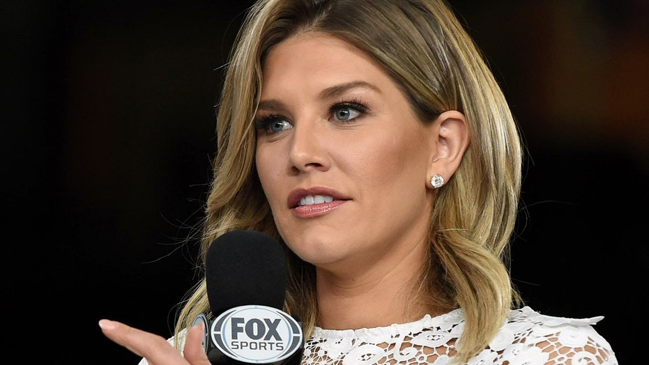 FOX Network commentator Charissa Thompson reports during an opening night event Monday, Jan. 30, 2017 before the NFL football Super Bowl LI game in Houston. (Al Messerschmidt via AP)