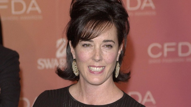 Kate Spade arrives at the Council of Fashion Designers of Americaawards in New York on June 2, 2003, at the New York Public Library.Awards were presented to members of the fashion industry at this annualgala event. REUTERS/Chip East REUTERSCME/AS - RP3DRIOQHOAA