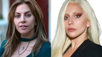 """Lady Gaga in """"A Star Is Born,"""" left, and again on the red carpet in 2015."""