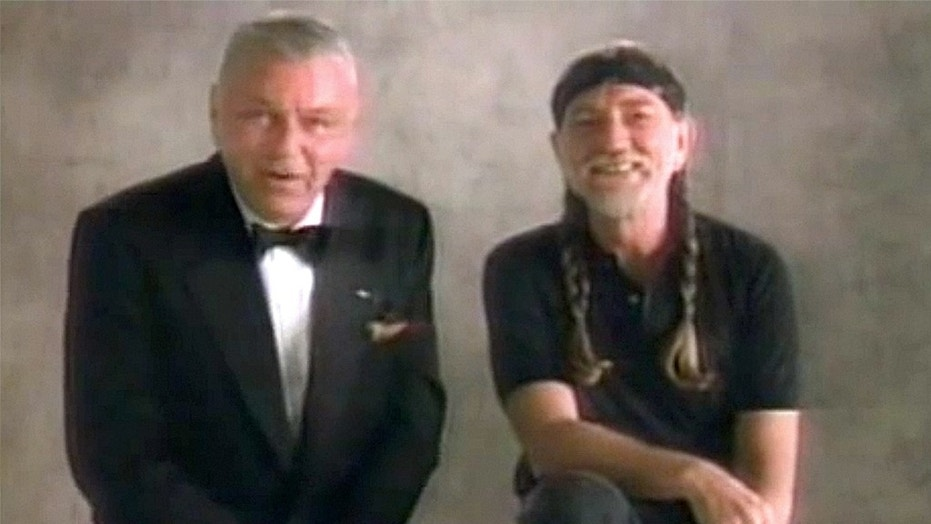 "Willie Nelson (right) told AARP Frank Sinatra was ""a close friend."""
