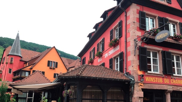 """A general view of the Le Chambard hotel where TV chef Anthony Bourdain was found, in Kaysersberg, France, Friday, June 8, 2018. A prosecutor in France says Anthony Bourdain apparently hanged himself in a luxury hotel in the small town of Kaysersberg. French media quoted Colmar prosecutor Christian de Rocquigny du Fayel as saying that """"at this stage"""" nothing suggests another person was involved in the death Friday of the American celebrity chef and food writer. (AP Photo/Jeff Schaeffer)"""