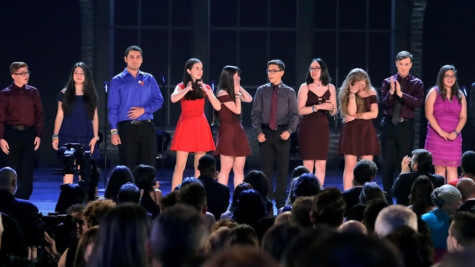 Parkland shooting survivors deliver powerful Tony Awards performance