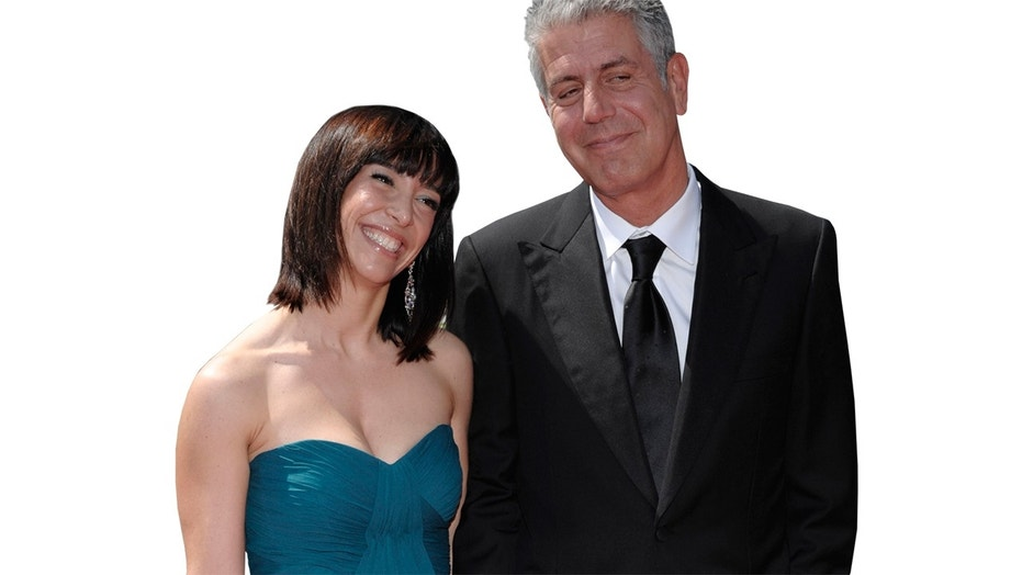 Chef Anthony Bourdain and his ex-wife Ottavia pictured in 2009. Bourdain committed suicide on June 8, 2018.