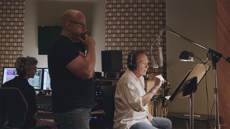 "David Cassidy recording his final EP ""Songs My Father Taught Me"" in September 2017."