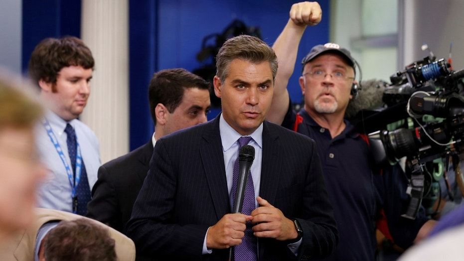 CNN senior White House correspondent Jim Acosta, seen here, took heat from President Trump's 2020 campaign manager, Brad Parscale.