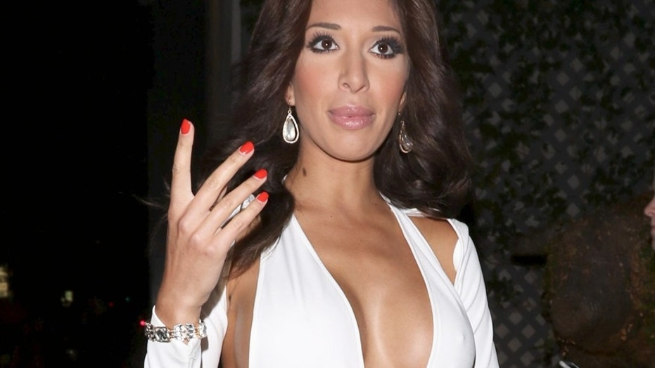 Farrah Abraham was arrested for striking a hotel security guard.