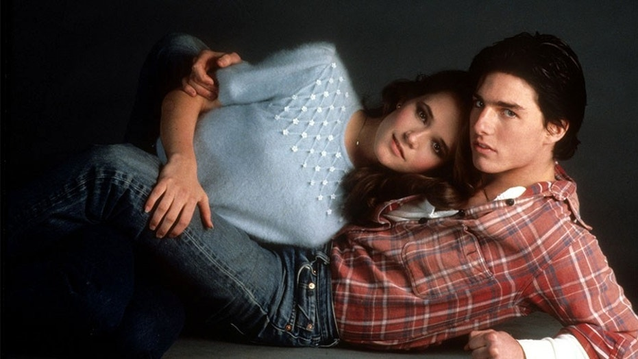 """Lea Thompson with Tom Cruise in 1983's """"All the Right Moves."""""""
