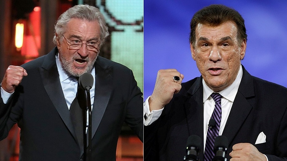 Robert Davi, right, criticized Robert De Niro's, right, speech at the Tony Awards.