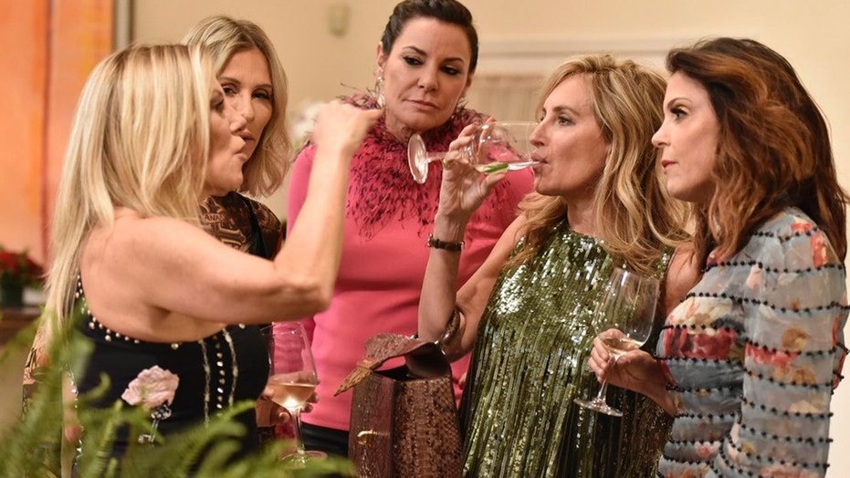 """Pictured: (l-r) Ramona Singer, Carole Radziwill, Luann D'Agostino, Sonja Morgan, Bethany Frankel of Bravo's """"Real Housewives of New York City."""""""